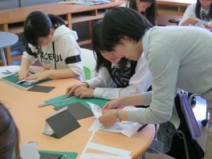 体験授業:紙から立体を作ってみよう!